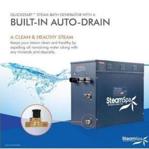 Steam Spa Quick Start Indulgence 10.5K WAcu- Steam Bath Generator IN1050CH  Built in Auto DrainView