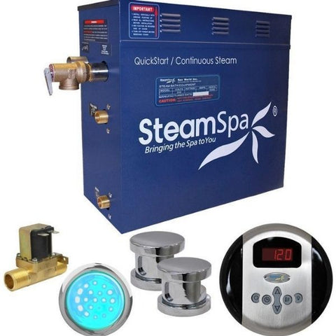 Steam Spa Quick Start Indulgence 10.5K WAcu- Steam Bath Generator IN1050CH Front View