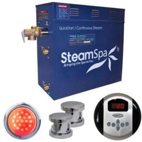 Steam Spa Quick Start Indulgence 10.5K WAcu- Steam Bath Generator IN1050CH Steam  Front View