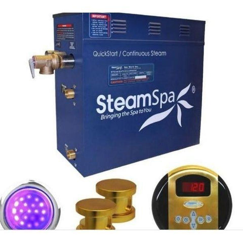 Steam Spa Quick Start Indulgence 10.5KWAcu-Steam Bath Generator IN1050GD  No Front View