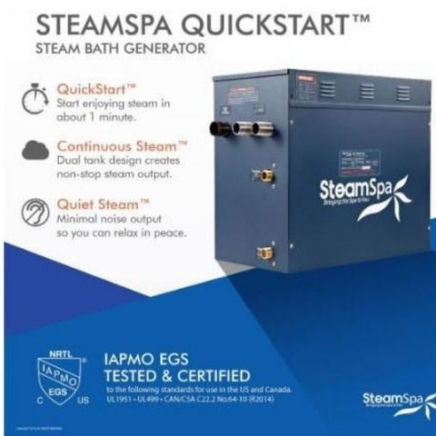 Steam Spa QuickStart Indulgence 10.5 KW Acu-Steam Bath Generator IN1050GD Steam Spa QuickStart View