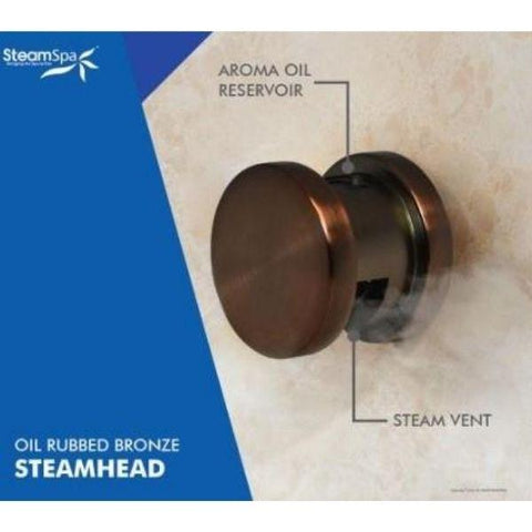Steam Spa QuickStart Indulgence 10.5KWAcu-Steam Bath Generator IN1050OB Steam Head View