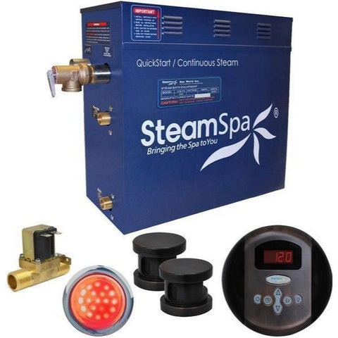 SteamSpa QuickStart Indulgence 10.5 KW Acu-Steam Bath Generator IN1050OB Yes Front View