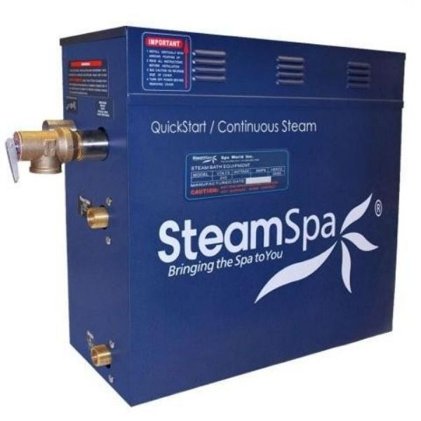 SteamSpa QuickStart Indulgence 10.5 KW Acu-Steam Bath Generator INT1050CH Generator View
