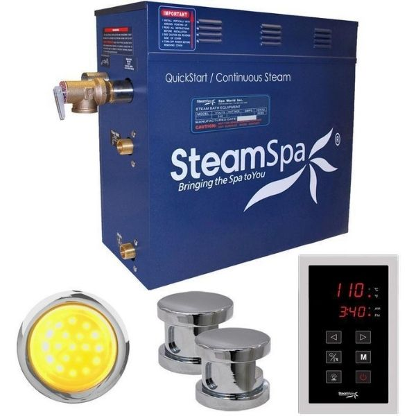 SteamSpa QuickStart Indulgence 10.5 KW Acu-Steam Bath Generator INT1050CH No Front View