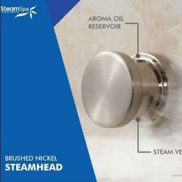 SteamSpa QuickStart Indulgence 10.5 KW Acu-Steam Bath Generator INT1050CH Steam Head View