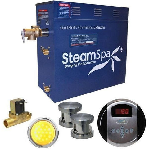 Steam Spa QuickStart Indulgenc e12KW Acu-Steam Bath Generator IN1200BNYes Front View