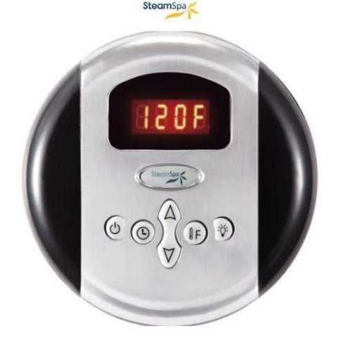 Steam Spa QuickStart Indulgence 12KW Acu-Steam Bath Generator IN1200CH Control Panel