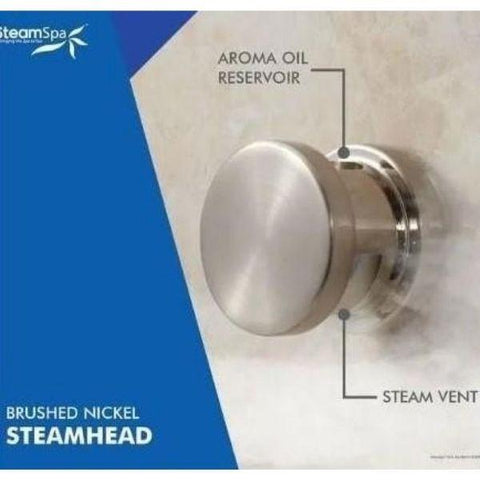 Steam Spa QuickStart Indulgence 12KW Acu-Steam Bath Generator IN1200CH Steam Head View
