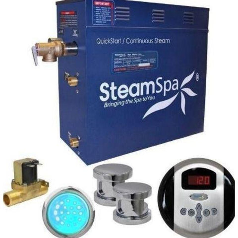 Steam Spa QuickStart Indulgence 12KW Acu-Steam Bath Generator IN1200CH Yes Front View