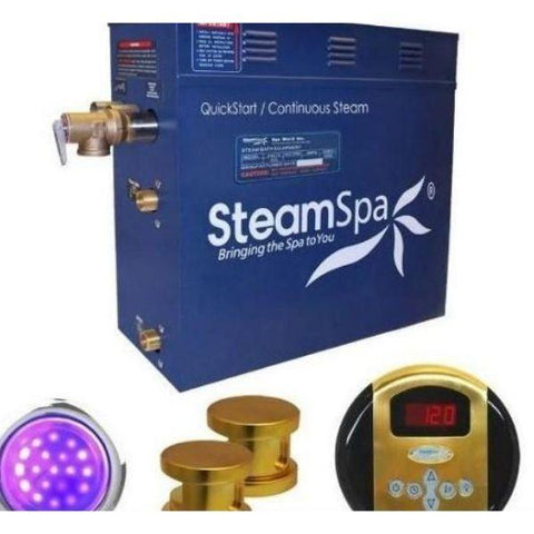 Steam Spa QuickStart Indulgence 4.5 KW Acu-Steam Bath Generator IN450GD No Copy Front View