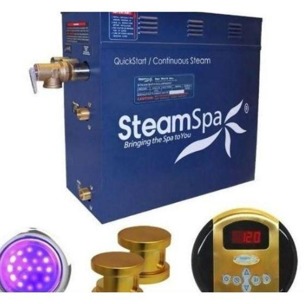 SteamSpa QuickStart Indulgence 4.5KW Acu-Steam Bath Generator IN450GD No Front View