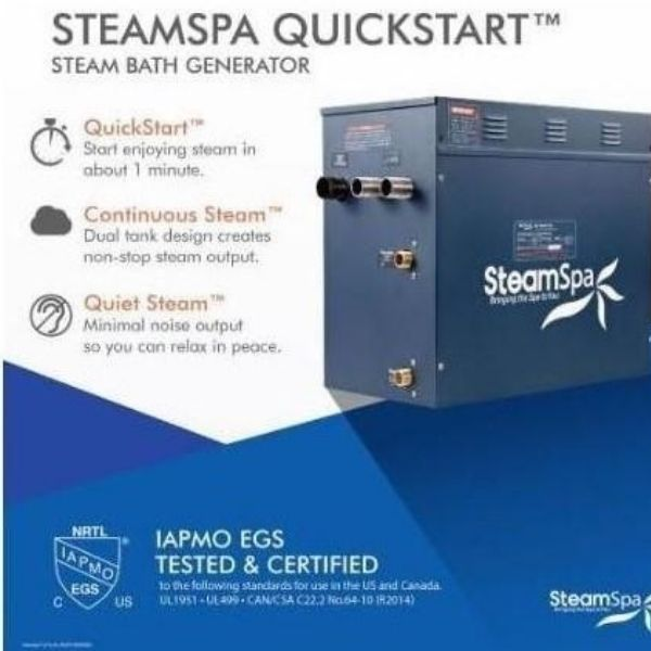 SteamSpa QuickStart Indulgence 4.5KW Acu-Steam Bath Generator IN450GD SteamSpa QuickStart