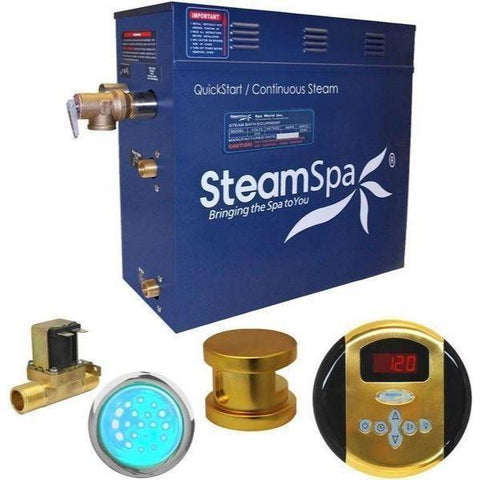 Steam Spa QuickStart Indulgence 4.5 KW Acu-Steam Bath Generator IN450GD Yes Copy Front View