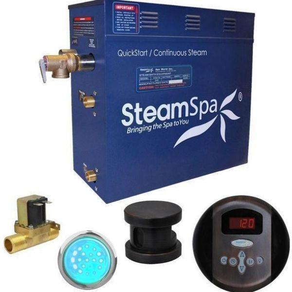 SteamSpa QuickStart Indulgence 4.5 KW Acu-Steam Bath Generator IN450OB Front View