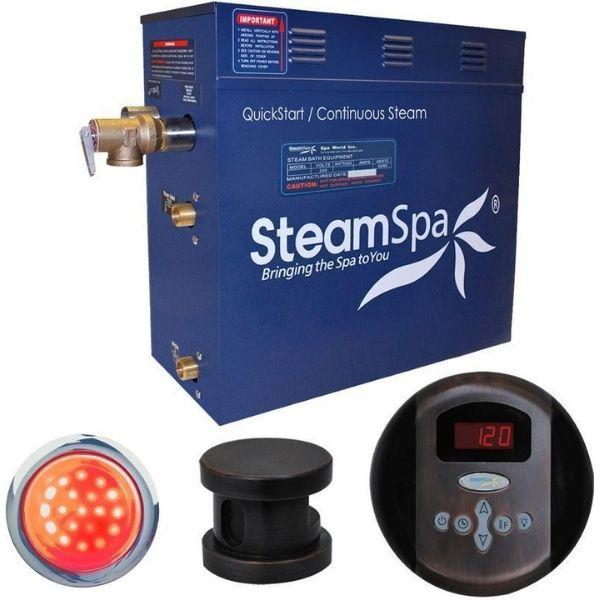 SteamSpa QuickStart Indulgence 4.5 KW Acu-Steam Bath Generator IN450OB No Front View