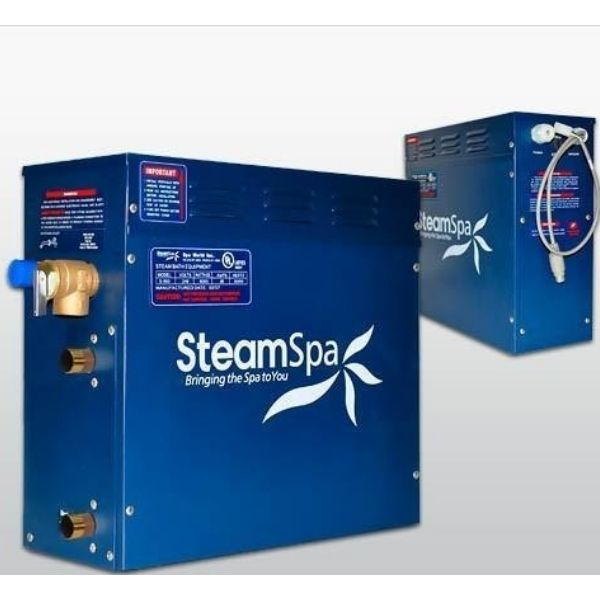 SteamSpa QuickStart Indulgence 6 KW Acu-Steam Bath Generator IN600GD Generator View