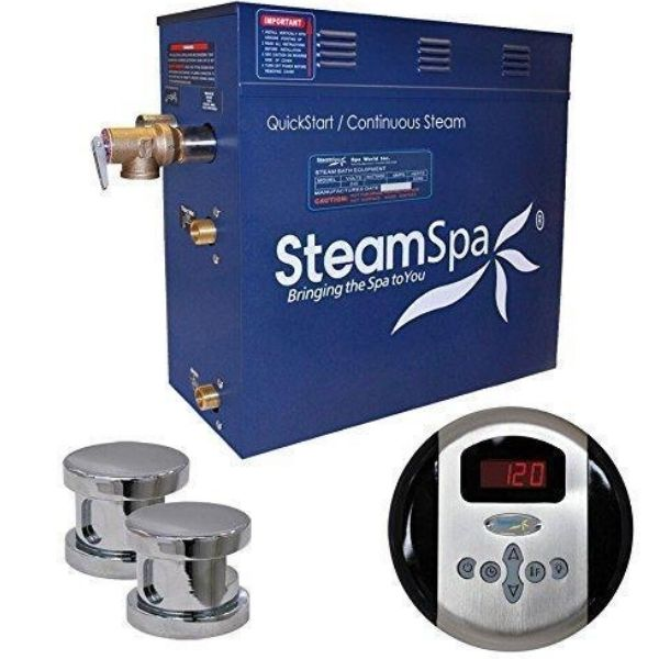 SteamSpa QuickStart Oasis 10.5 KW Acu-Steam Bath Generator OA1050CH Front View