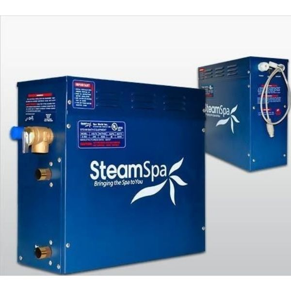 SteamSpa QuickStart Oasis 4.5 KW Acu-Steam Bath Generator OA450GD Generator View