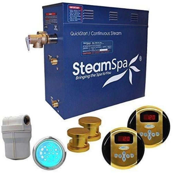 SteamSpa QuickStart Royal 12 KW Acu-Steam Bath Generator RY1200GD Front View