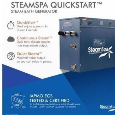 Steam Spa Steam Generators SteamSpa QuickStart Indulgence 10.5 KW Acu-Steam Bath Generator IN1050BN Steam Spa Quick Start View