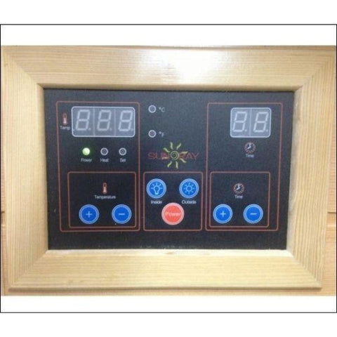 Saunas SunRay Barrett 1 Person Infrared Sauna HL100K2  Control Panel View