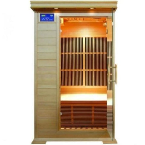 Saunas SunRay Barrett 1 Person Infrared Sauna HL100K2  Front View