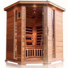 SunRay Bristol Bay 4 Person Infrared Sauna HL400KC Front View