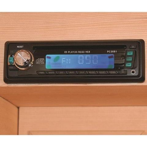 SunRay Cedar Sequioa Infrared Sauna HL400K CD Player View