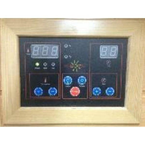 SunRay Cedar Sequioa Infrared Sauna HL400K Control Panel View