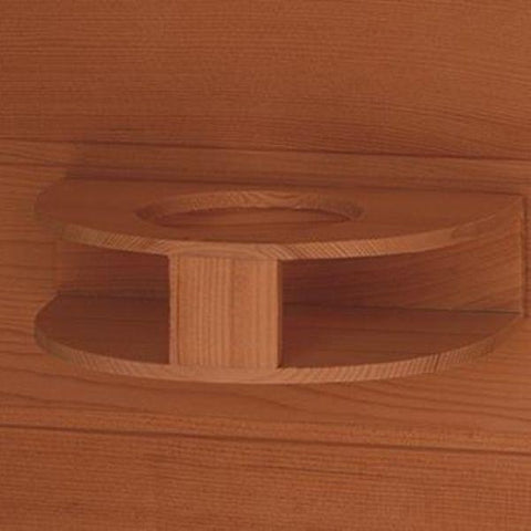 SunRay Cedar Sequioa Infrared Sauna HL400K Cup Holder View