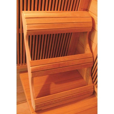 SunRay Cedar Sequioa Infrared Sauna HL400K Ergonomic Backrest View