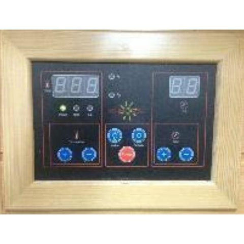 SunRay Evansport 2 Person Infrared Sauna HL200C Control Panel View