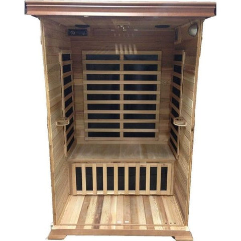 SunRay Evansport 2 Person Infrared Sauna HL200C Inside View