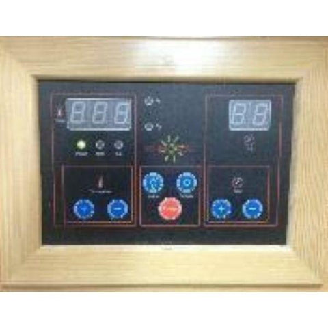 Sun Ray Heathrow 2 Person Infrared Sauna HL200 Control Panel View