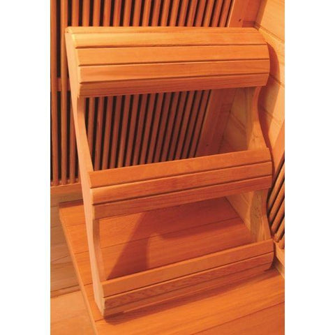 Sun Ray Heathrow 2 Person Infrared Sauna HL200 Ergonomic Backrest View
