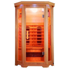 Sun Ray Heathrow 2 Person Infrared Sauna HL200 Front View