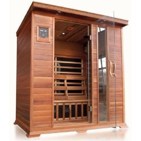 SunRay Savannah 3 Person Infrared Sauna HL300K Front View