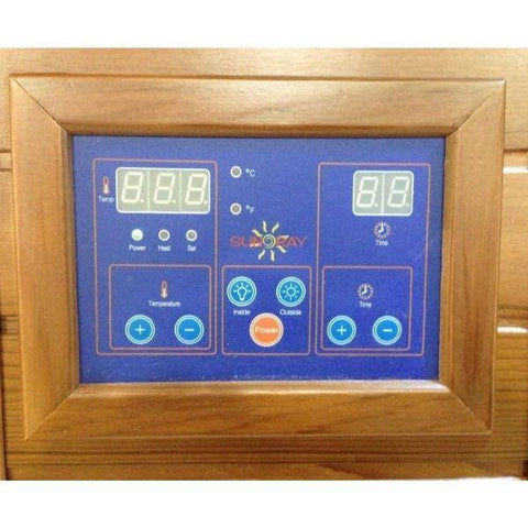SunRay Sedona Infrared Sauna HL100K  Control Panel View