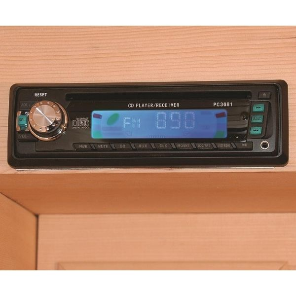 SunRay Sedona Infrared Sauna HL100K  FM Radio Player View