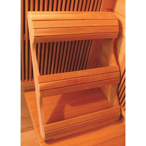 SunRay Sierra 2 Person Infrared Sauna HL200K Ergonomic Backrest View