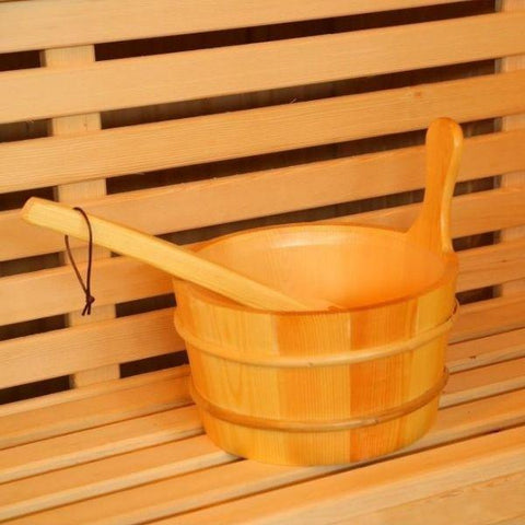 SunRay Westalke Luxury 3 Person Traditional Sauna 300LX Bucket and Ladle View