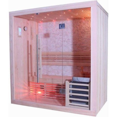 SunRay Westalke Luxury 3 Person Traditional Sauna 300LX Front Side View