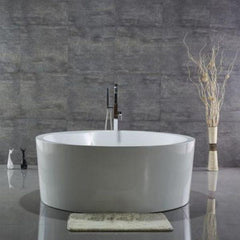 White Round Freestanding Bathtub WE6810 Front View