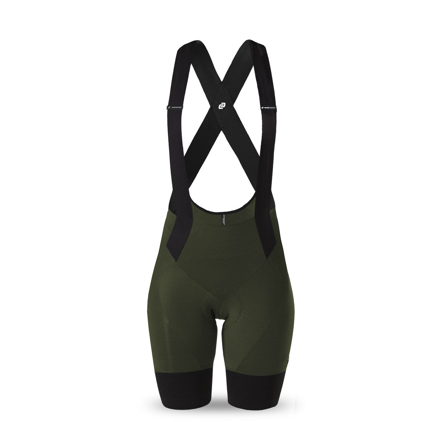 Ladies Supremo Bib Shorts (Olive)
