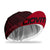 red striped cycling cap