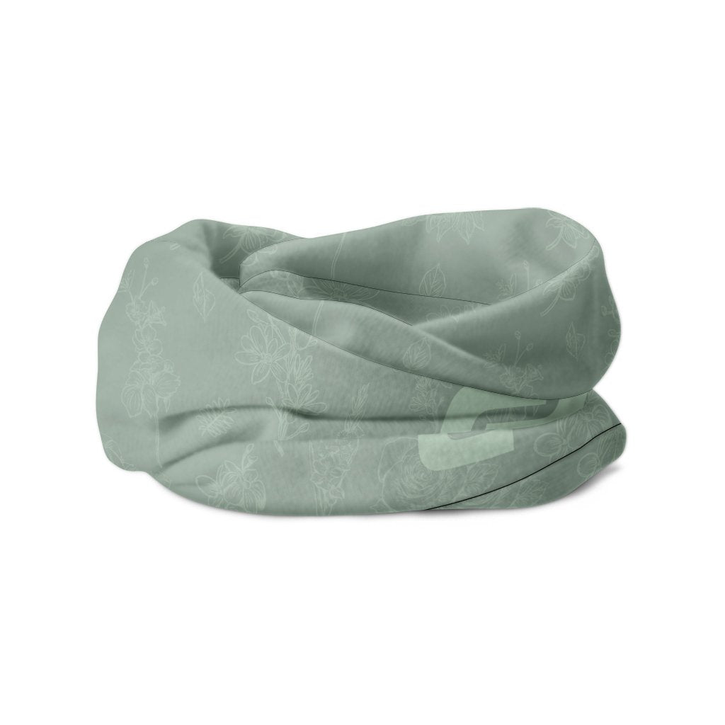 light green headscarf for cycling