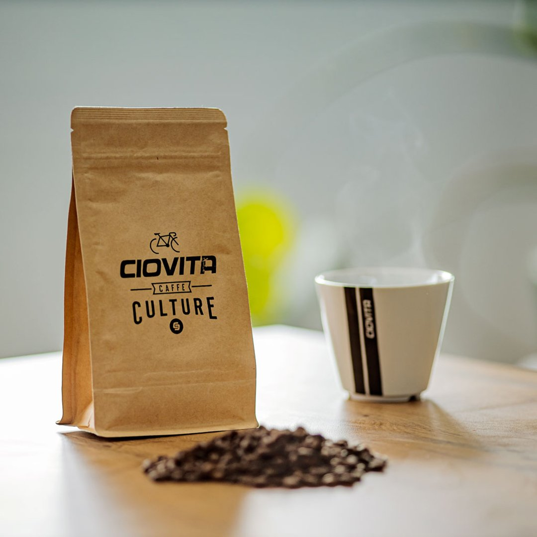 250g brown bag of ciovita coffee beans