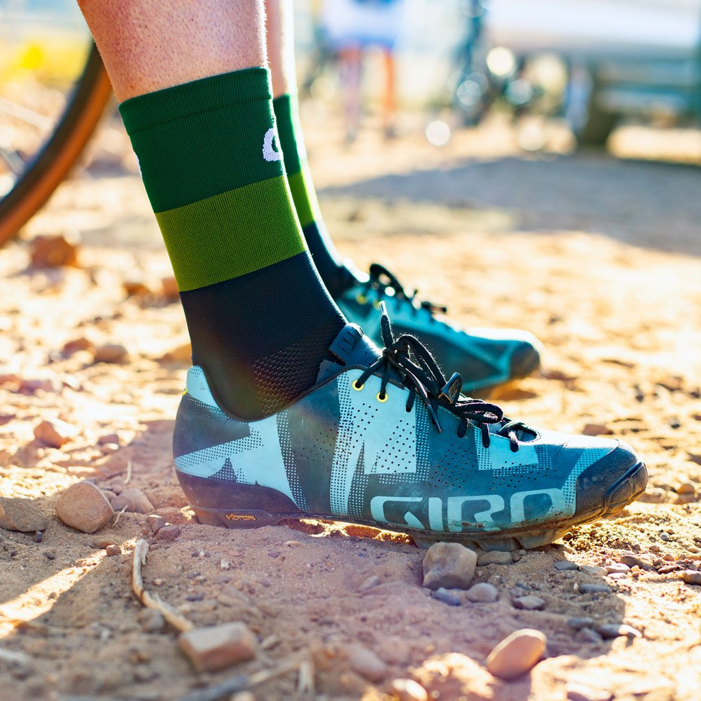 Green and black ciovita cycling socks