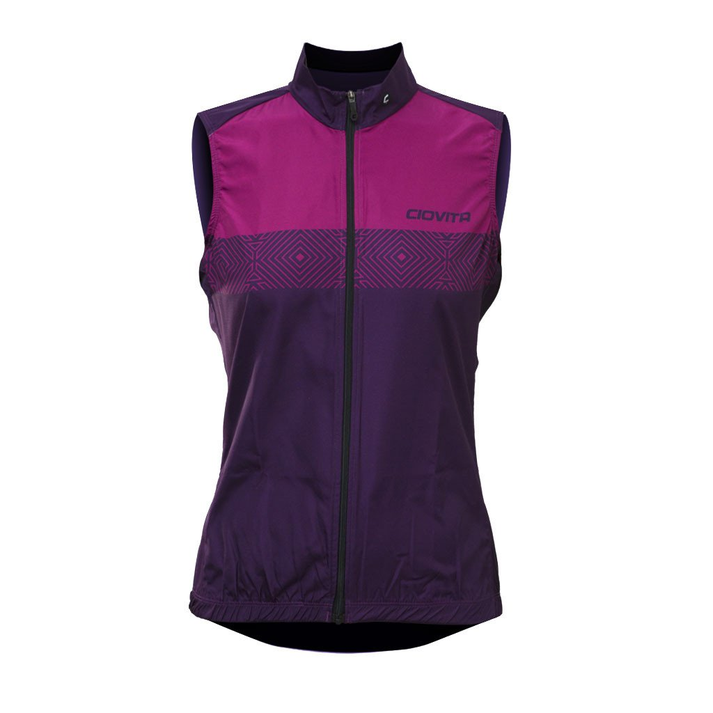 pink purple ladies cycling gilet